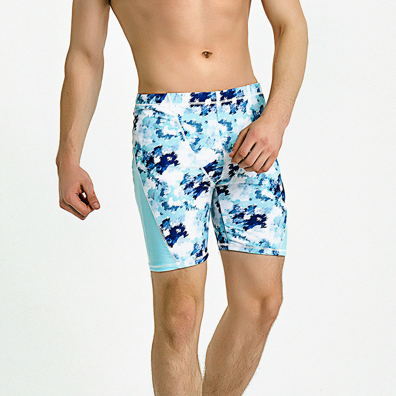 IEMOX/iemox 2020 Swimming Trunks Men Quick-Dry Printed Loose And Plus-sized Shorts Adult Swimming Trunks