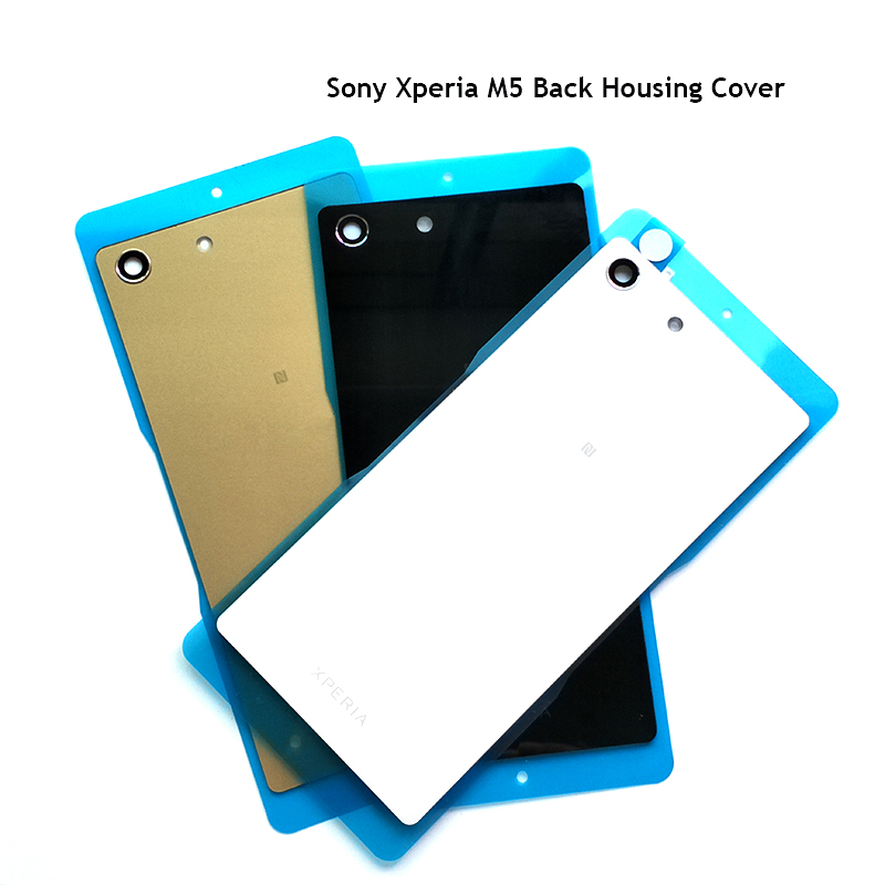 Back Housing With NFC For Sony Xperia M5 E5633 E5603 Back Cover Battery Cover Rear Door Housing For Sony M5 Back Hosuing E5633