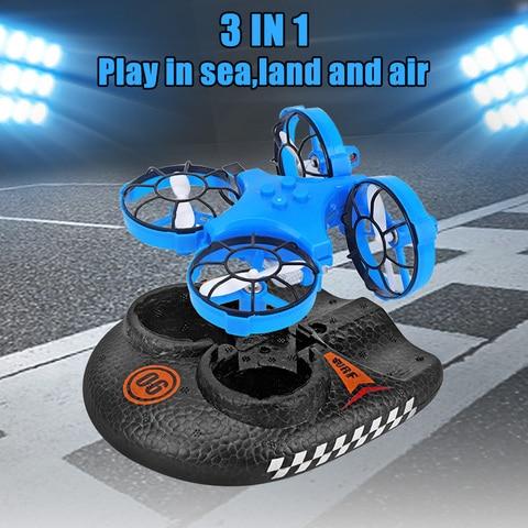 recem brinquedos ao ar livre 3 em 1 voando barco ar terra conducao modo destacavel