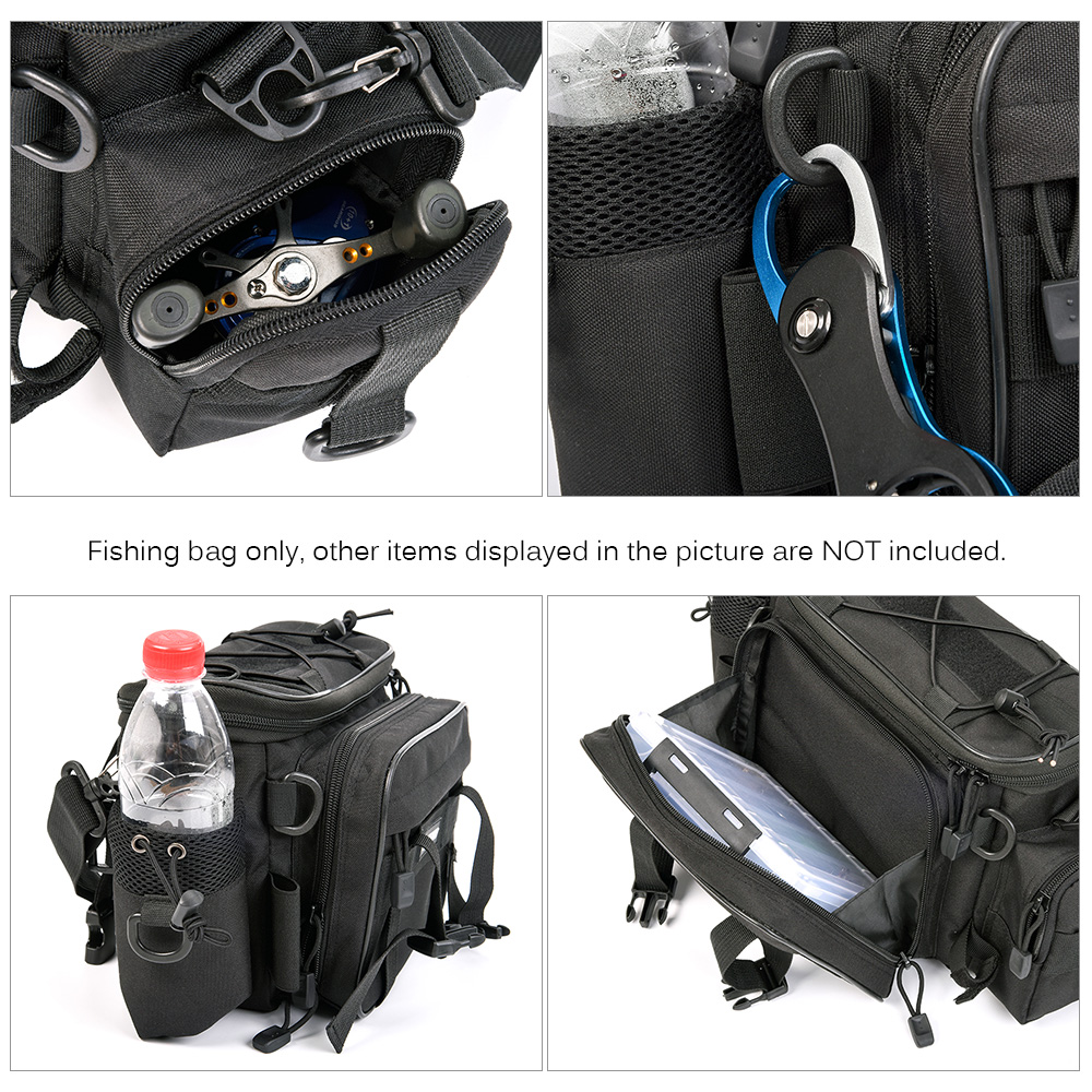 Multifunction Fishing Pack Tackle Bag Fishing Waist Bag Great for Outdoor