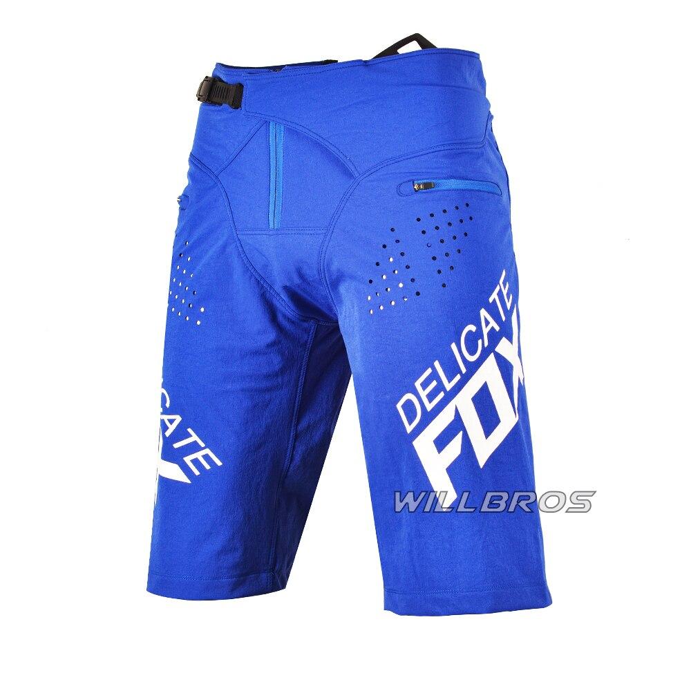 Delicate Fox Motocross Racing Flexair Shorts ATV Downhill Bike Cycling Mountain Bicycle Offroad Blue Summer Short Pants Mens