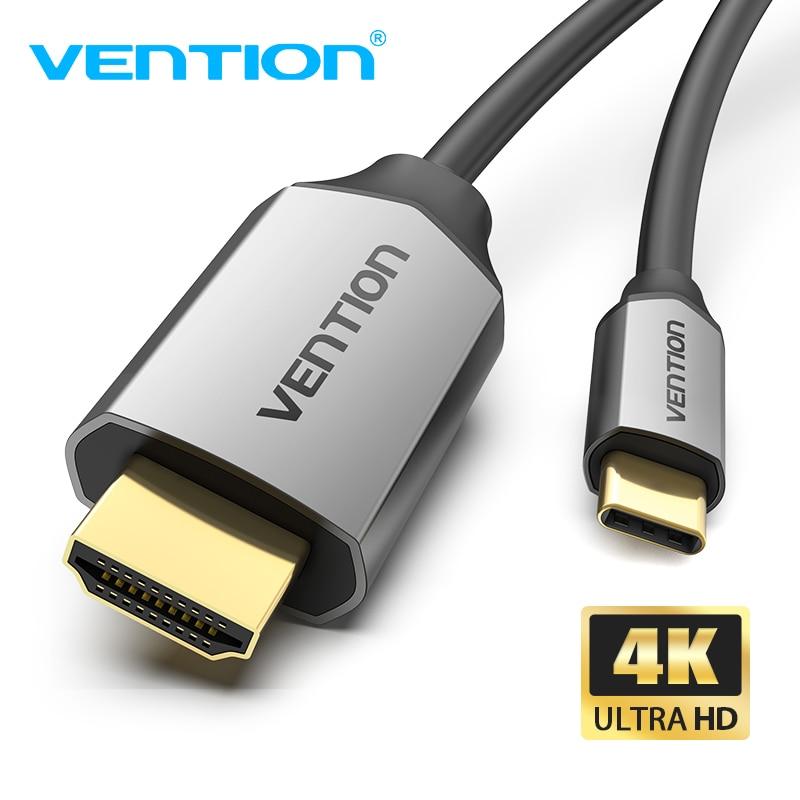Vention USB C HDMI 4K typ C na kabel HDMI Thunderbolt 3 Adapter do Huawei P40 Mate 30 Pro MacBook Pro Air ipad kabel usb c