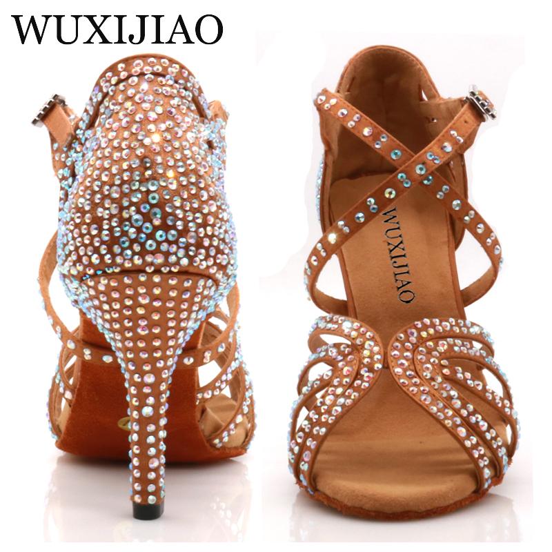 WUXIJIAO Jazz shoes Latin dance shoes female Latin Salsa girl casual shoes silver bronze skin shoes