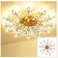Lámpara de araña LED de lujo Retro, accesorio de iluminación para sala de estar, dormitorio, comedor, montaje en superficie, Panel empotrado para pájaro G9