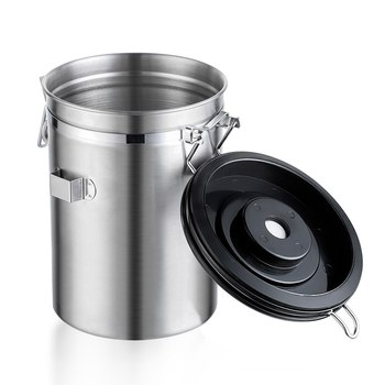 Stainless Steel Airtight Sealed Canister With Spoon Coffee Flour Sugar Container Holder Can Storage Bottles Jars For Coffee Bean 4