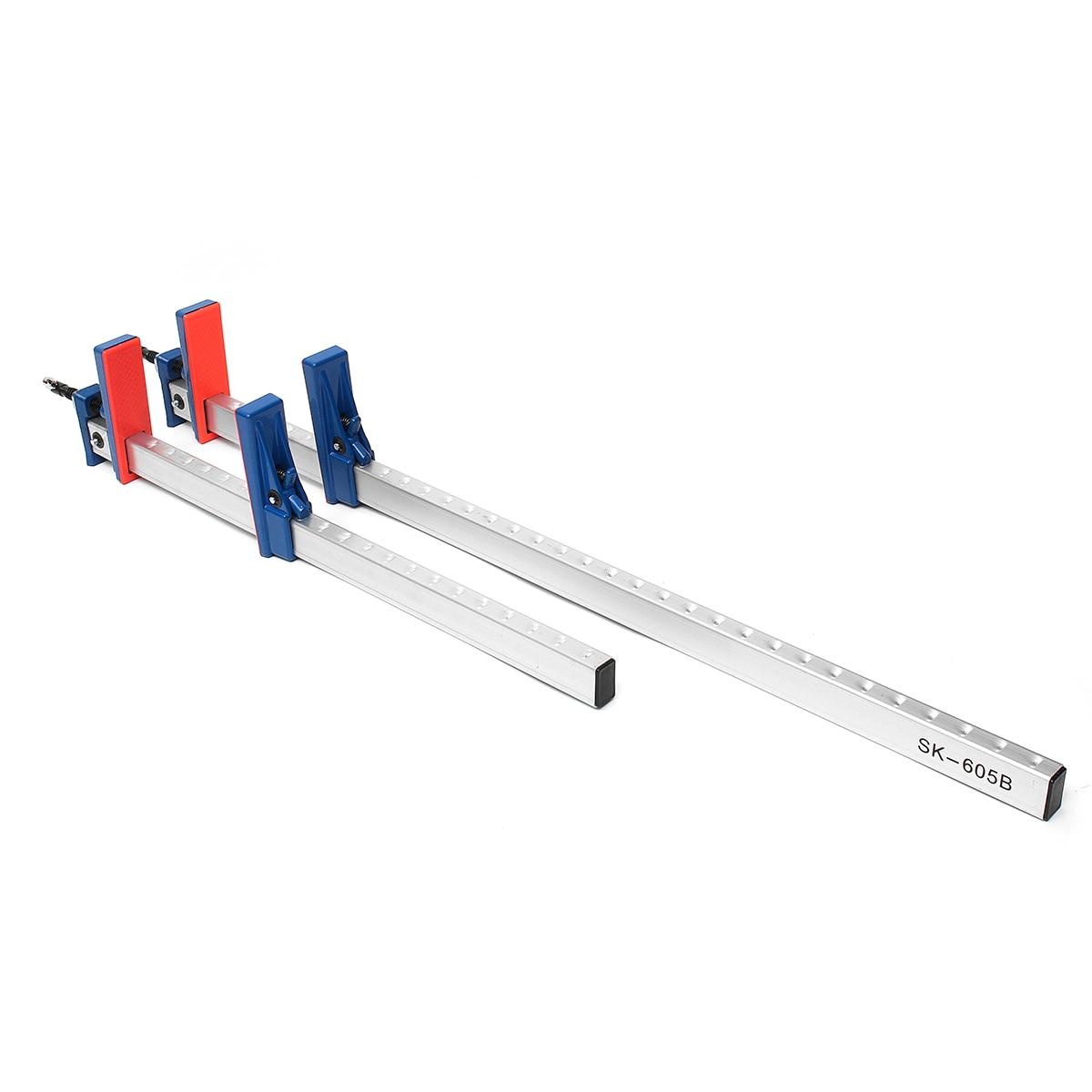 4PCS 24/'/' 36/'/' Aluminum F Clamps Heavy Duty Bar Clamp 620mm 920mm Quick Slide