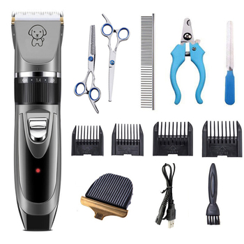 dog clippers dog hair clippers Cordless dogs grooming kit cat hair trimmer pet grooming tool USB Rechargeable Low-noise​ professional dog hair clippers grooming kit low noise rechargeable cordless dog cat pet electric hair clipper​ trimmer 100v 240v