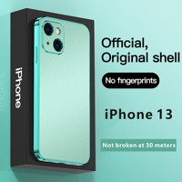 Funda completa de teléfono móvil iPhone 13 de Apple, carcasa electrochapada de color sólido esmerilado, 2021