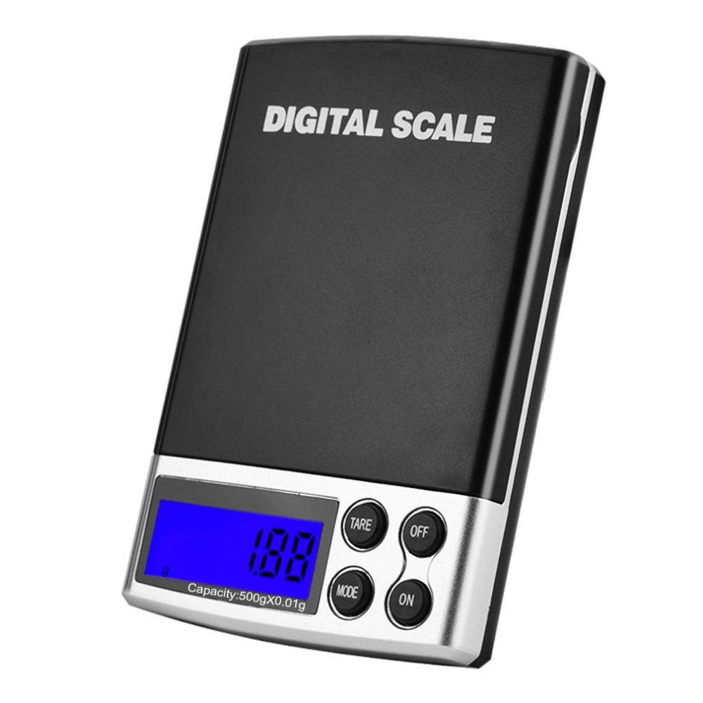 500gx0 01g Accuracy Digital Jewelry Scale Electronic Portable Weighing Precision Weight Diamond Scales Tare Function in Weighing Scales from Tools