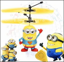 Minion Drone RC Pesawat Helikopter Mini Drone Terbang Berkedip Helikopter Kontrol Tangan RC Mainan Minion Quadcopter Drone LED Mainan Anak(China)