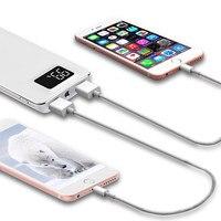 Power Bank 30000mAh Für XiaomiMi2 USB Power Tragbare Ladegerät Externe Batterie Poverbank Für iPhonex Huawei5g