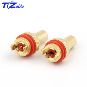 Image 4 - 8pcs 4 Color RCA Jack Connector Rhodium/Gold Plated Copper Plugs Audio Panel RCA Female Socket Chassis CMC Audio/Video Adapter