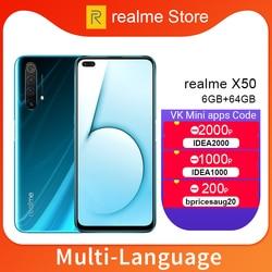 Realme X50 X 50 5G 8GB 128GB 6,57 ''Moblie Telefon Snapdragon 765G Octa Core 64MP quad Kamera Handy VOOC 30W Schnelle Ladegerät