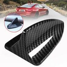 Car Shark Fin Antenna Cover Radio FM/AM Decorative Trim Eco-Friendly Carbon Fiber Look Car-Styling Accessories