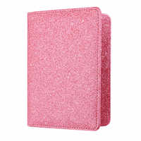 Funda de pasaporte unicolor de lujo para mujer, funda de pasaporte de viaje de cuero rosa, billetera para pasaporte para chica # LL