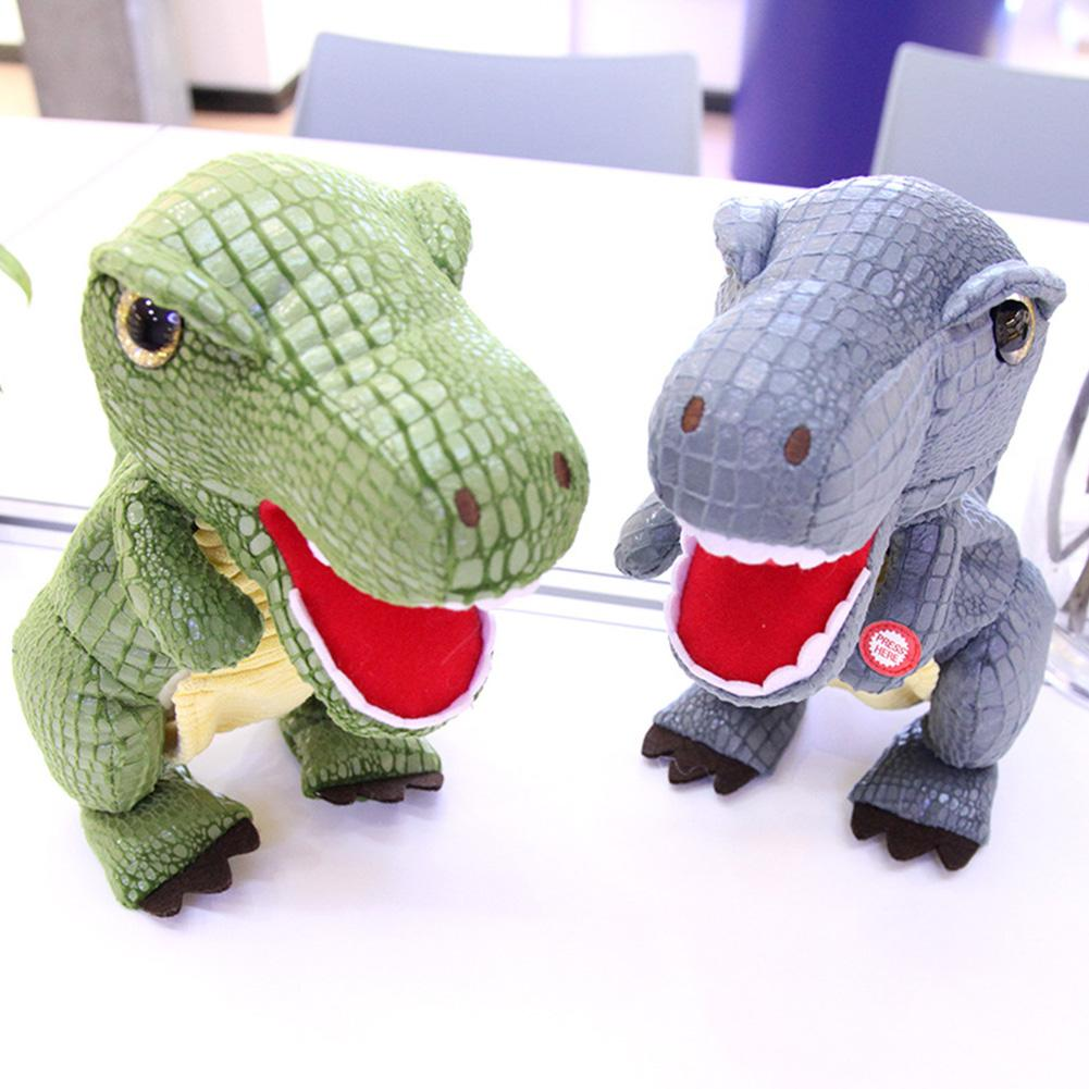 Electronic Dinosaur Toy Safe Realistic Dinosaur Model With Walking Motion, Simulation Roaring Lovely Stuffed Plush Doll Gifts
