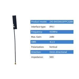 Image 2 - 長距離 433 mhz の内部アンテナ lora 433 メートル fpc アンテナ ipx ipex ワイヤレスモジュール lora オムニ dtu 受信機 antena TX433 FPC 3208