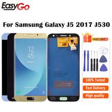 J5 2017 LCD do SAMSUNG J5 2017 wyświetlacz J530 J530F SM-J530F wyświetlacz LCD ekran dotykowy Digitizer zgromadzenie darmowa wysyłka tanie tanio CN (pochodzenie) Pojemnościowy ekran 1280x720 3 For Galaxy J5 2017 J530 LCD i ekran dotykowy Digitizer Gold Black light Blue( like white)