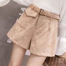 Milinsus Autumn Winter 2019 New Fashion Wide Leg Skirt Shorts Korean Style Pocket Solid Color pantalones cortos de mujer