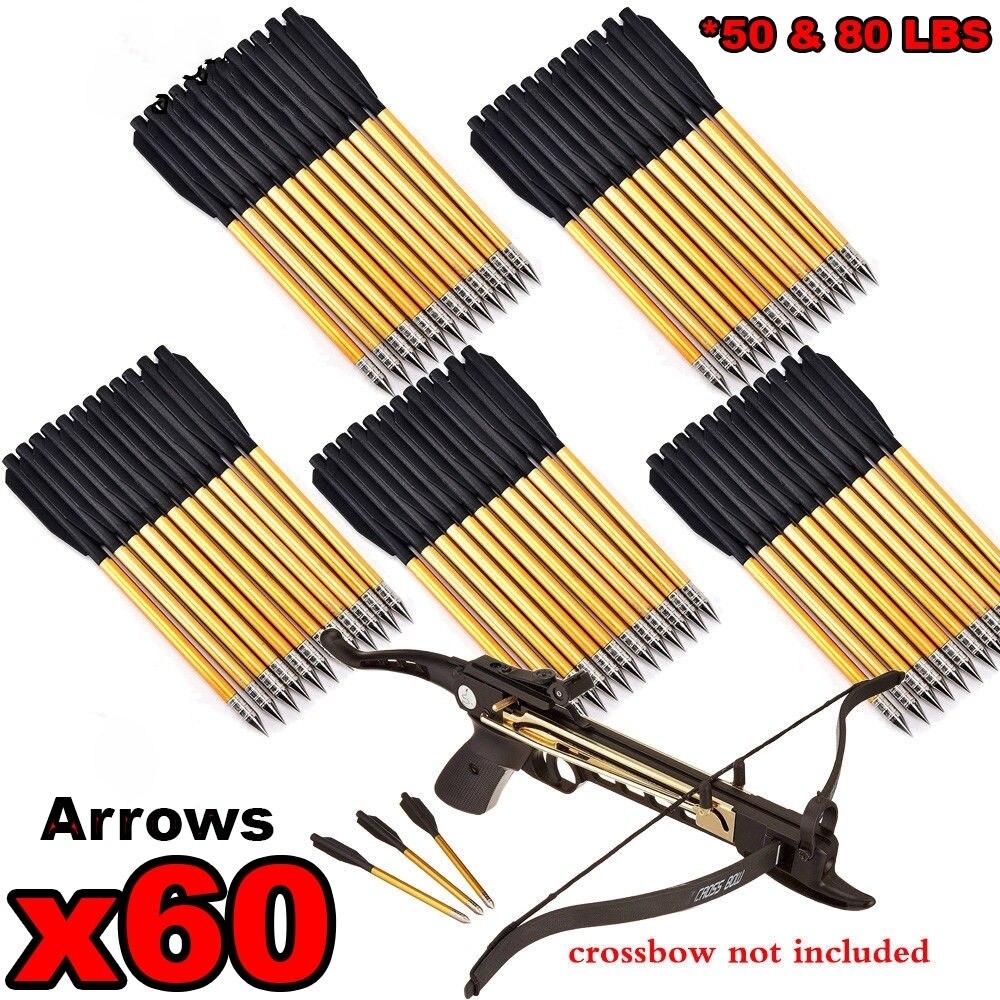 12 個アーチェリースーパーミニクロスボウ矢印アルミボルトピストル 50lb 80 lb クロス弓の色を選択