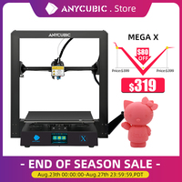 ANYCUBIC i3 Mega X 300*300*305mm anycubic 3d Drucker FDM Große Plus Druck Größe Meanwell Power versorgung Ultrabase impresora 3d