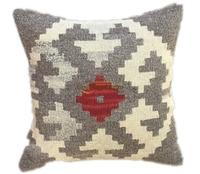 Point Kilim ROSE Pillow Cushion Rectangle Simple Kilim Art Handmade Woven