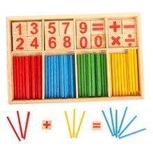 ألعاب مونتيسوري الرياضيات ألعاب خشبية تعليمية للأطفال التعلم المبكر لغز أطفال عدد العد العصي وسائل تعليمية GYH