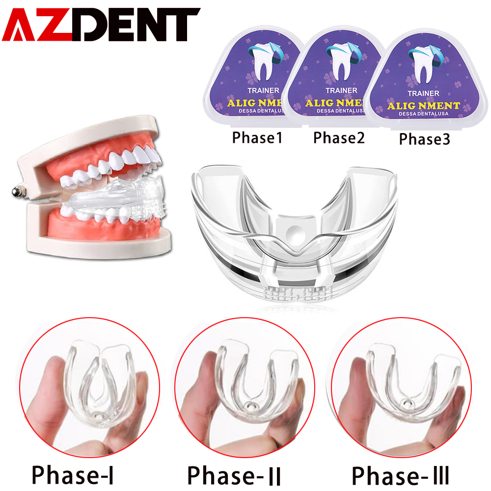 3pcs/set Azdent Dental Tooth Orthodontic Appliance Trainer Dental Braces Teeth Trainer For Adults Orthodontic Braces