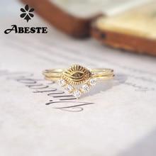 ANI 18K Yellow Gold (AU750) Wedding Ring Gold Rings anillos mujer Devil Eye Design Real Natural Diamond Bridal Set for Women недорого