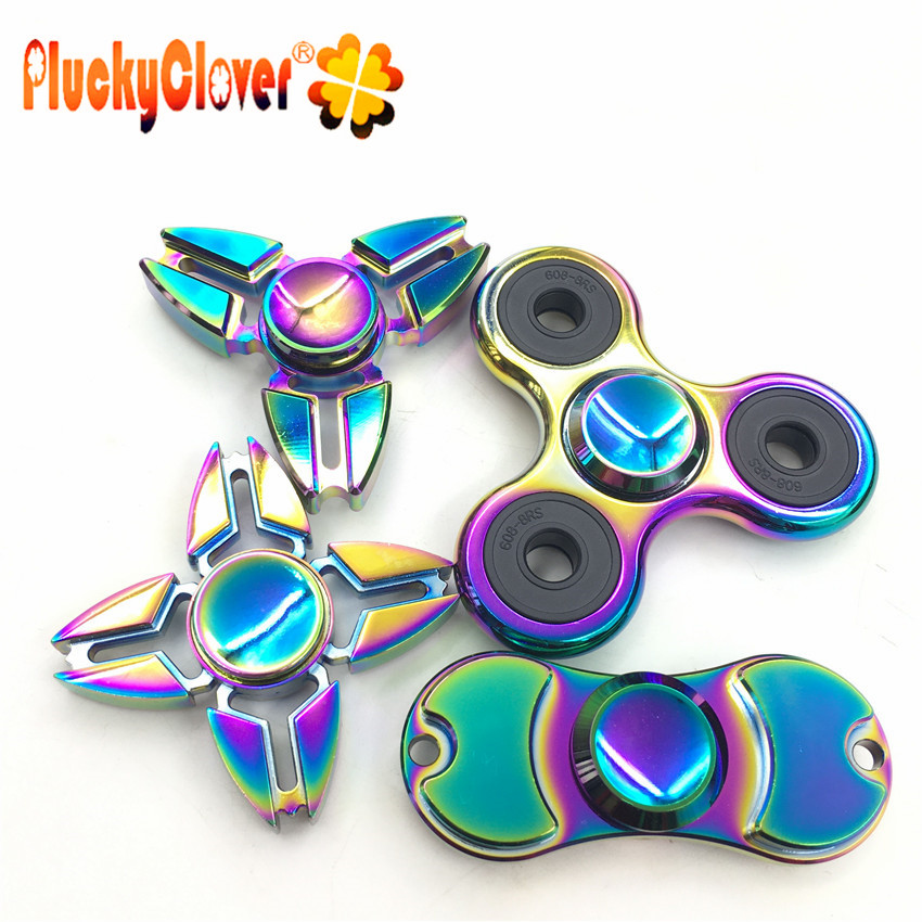Fidget Spinner Real Aluminum 4 Colors Long Spin Time High Quality Metal.