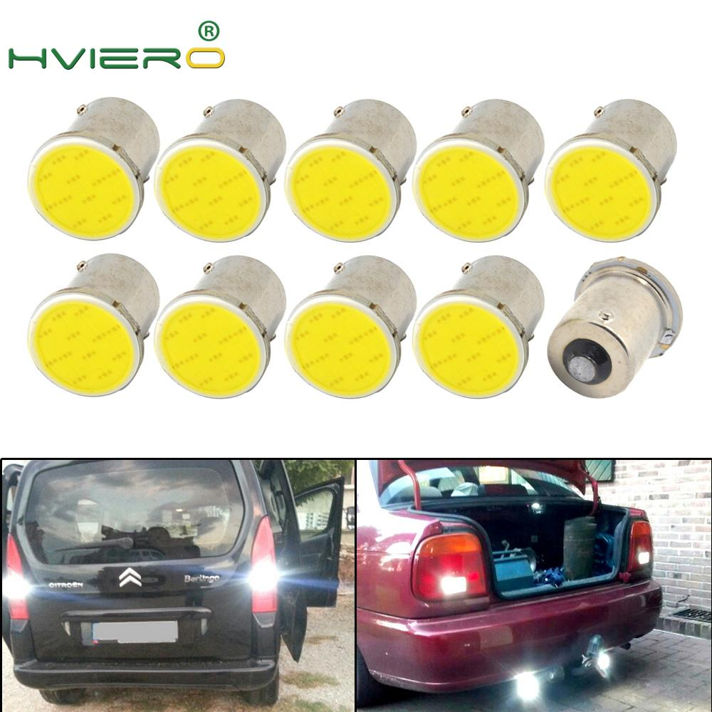 10X White Red Blue Cob 12Smd 1156 BA15S 1157 BAY15D DC 12v Down Bulb RV Trailer Truck Light Parking Auto Backup Lamp Led Light