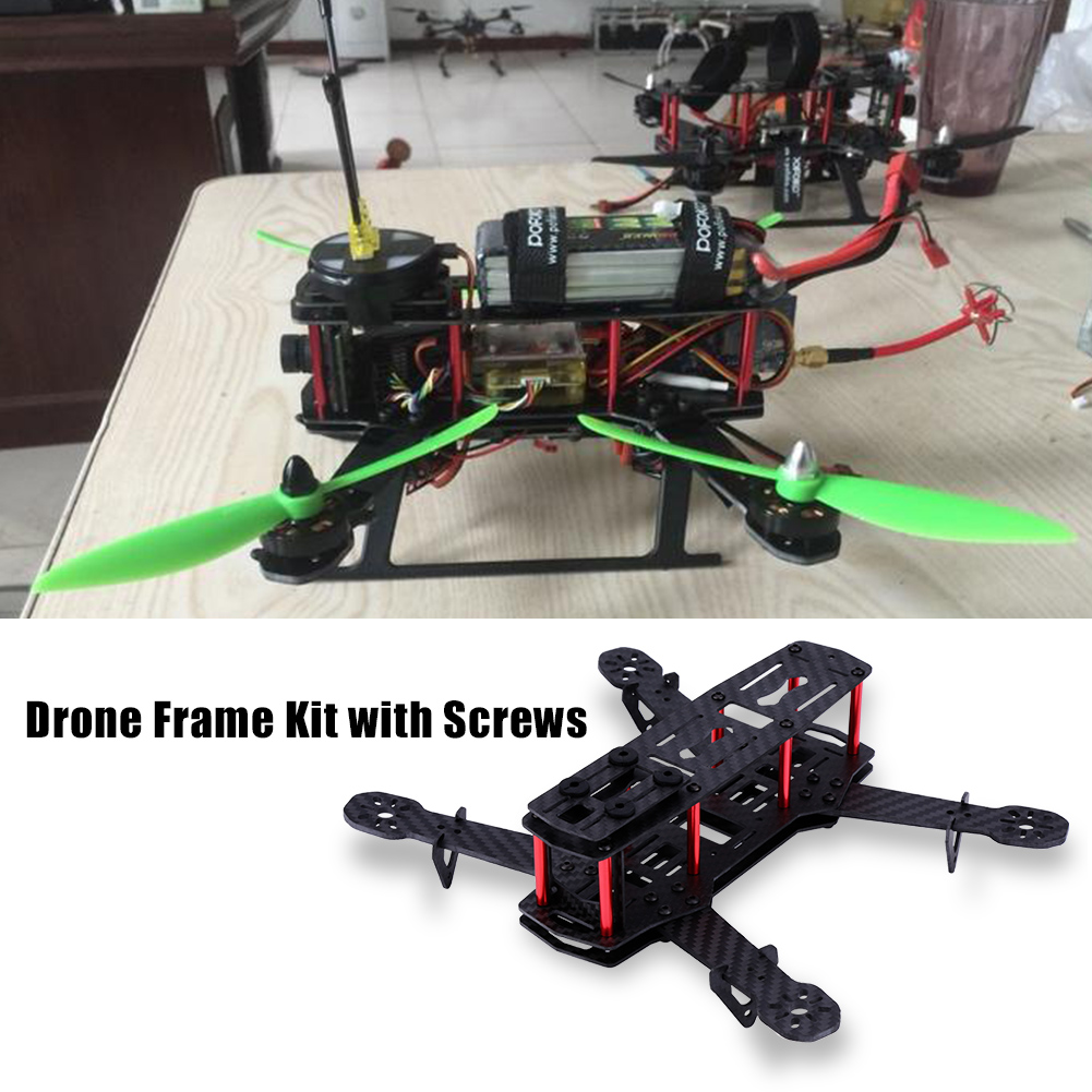 250mm Wheelbase Mini FPV Frame Kit Carbon Fiber CF Rack For DIY FPV Racing Drone Quadcopter 4/5/6 inch Propellers|RC Airplanes| - AliExpress