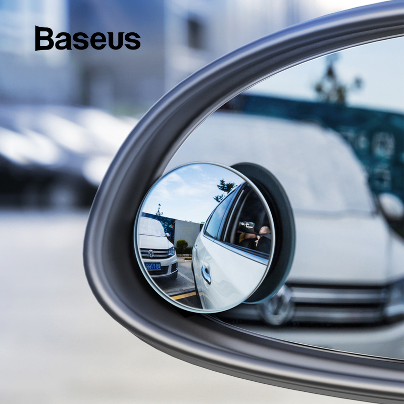 Baseus Car Holder 2Pcs Rear View Mirror Full-vision Adjustable Blind Spot Mirror For Car Backing Auto Round Glass Convex Mirror