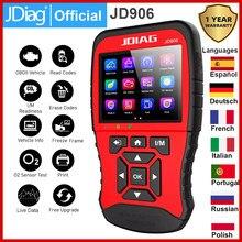 Jdiag jd906 nova ferramenta de varredura obd2 scanner modo motor completo ferramenta diagnóstico o2 sensor mode6 mode8 leitor código