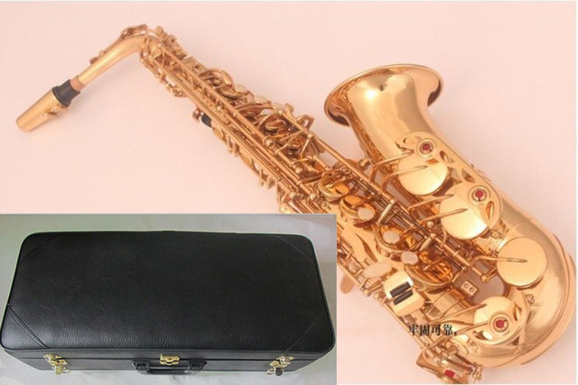 New high quality instrument The alto saxophone Golden alto Saxophone and case