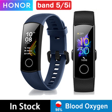 جهاز هواوي هونور باند 5 باند 5i smartband AMOLED ساعة ذكية usb شحن الدم الأكسجين القلب الغضب فتنيس النوم السباحة الرياضة