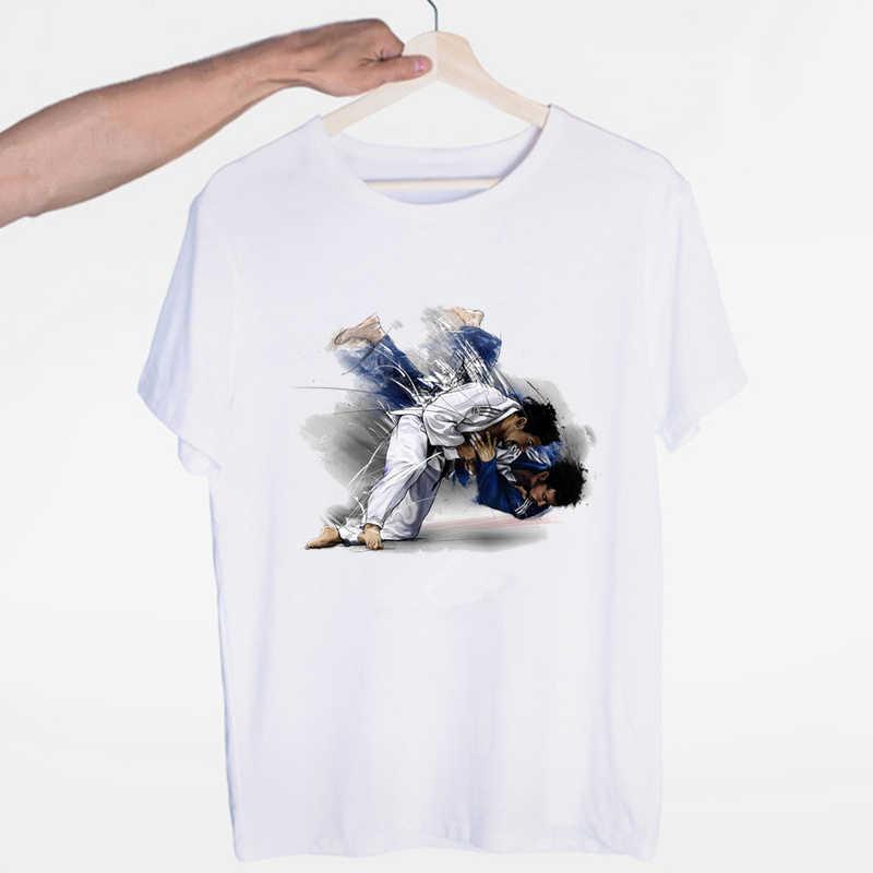 Ewolucja koszulki judo O-Neck z krótkimi rękawami letnia moda codzienna Unisex męska i koszulka damska