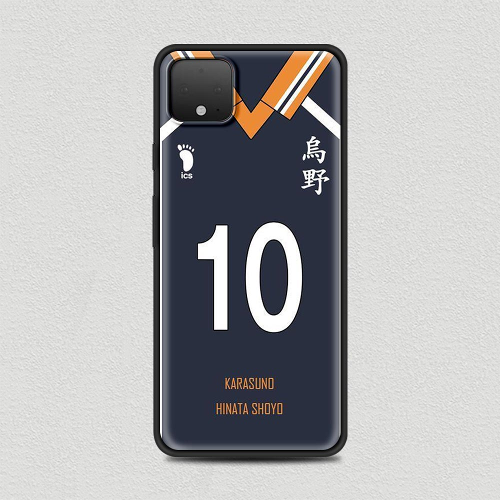 Anime Haikyuu Silicone Phone Case For Google Pixel 4 XL 4 4A Cover For Google Pixel 5 4G 5G Soft Black Shell Coque