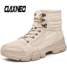 CLAXNEO Man Boots High Top Fashion Male Desert Autumn Mens Casual Shoe Walking Footwear