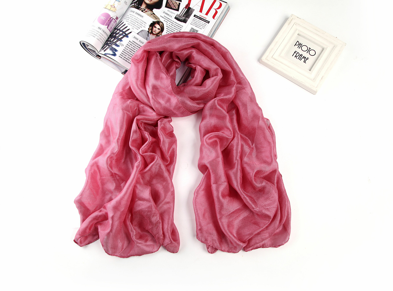 Colorful Scarves Casual Scarves Double Gray  Plaid Large Ladies Autumn And Warm Long Shawl