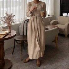 Женское однобортное платье rugod однотонное плиссированное свободного