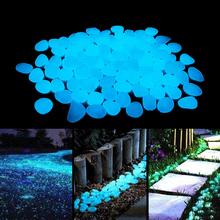 Świecące kamienie świecące w ciemności kamyki świecące kamienie na zewnątrz chodniki dom ogród wystrój ogrodu Fish Tank Pebble Rocks tanie tanio Żywica BH010