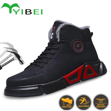 Men's Boots Shoes Indestructible-Work Anti-Smashing Outdoor Winter Warm And Leisure
