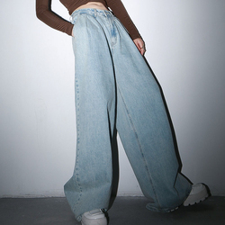 Женские джинсы TWOTWINSTYLE, свободные длинные штаны с высокой талией, широкие брюки с рюшами на весну 2020