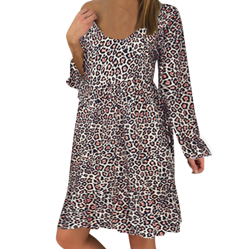 H8c1ed31ee7ce4bff8233baf59e77392eL JAYCOSIN plus size dress women summer dress Loose Ladies dresses woman Leopard Print Long Sleeve Dress girl vestidos wholesale 7
