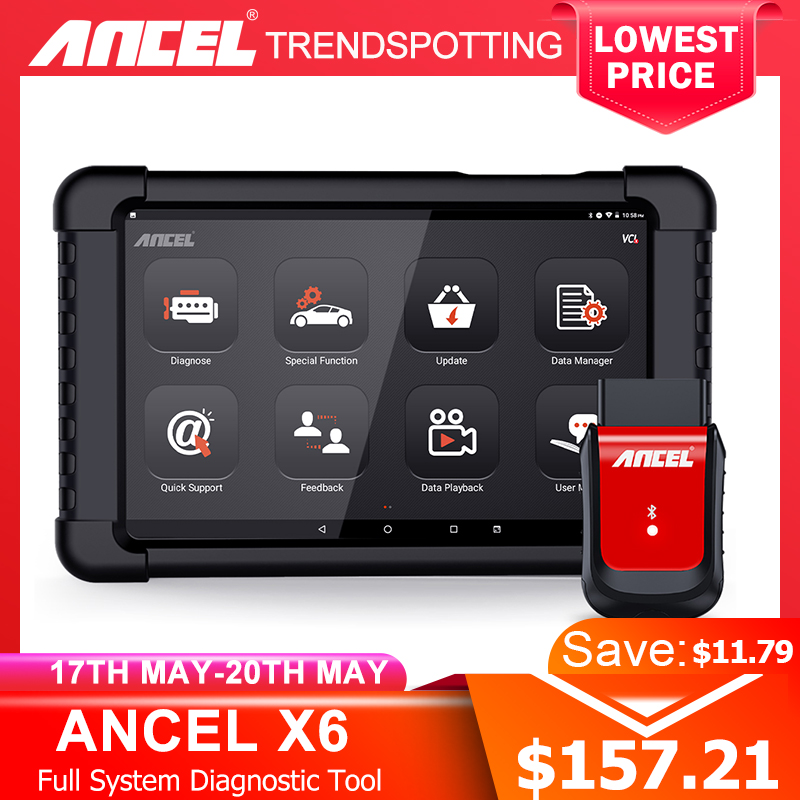 Ancel X6 OBD2 Scanner Bluetooth Scan ABS Airbag Oil EPB DPF Reset OBD 2 Automotive Scanner Code Reader Auto Car Diagnostic Tool