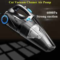 4 in 1 Portable Car Handheld Vacuum Cleaner Electric Air Pump Tire Inflator LED Light 12V 120W Vacuum Cleaner For Home Auto Car
