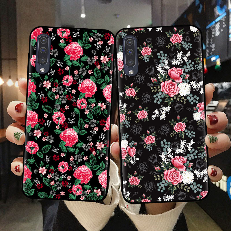 Tropical <font><b>Floral</b></font> Botanic Phone <font><b>Case</b></font> Soft TPU Cover Shell For <font><b>Samsung</b></font> A10 A20 A30 <font><b>A40</b></font> A50 A70 A51 A71 A6 A7 A8 A9 Plus 2018 Daisy image