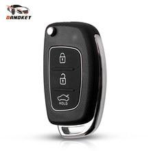 Чехол для автомобильного ключа Dandkey с тремя кнопками, чехол для Hyundai Solaris i10 i20 i30 i35 i40 IX45 Series