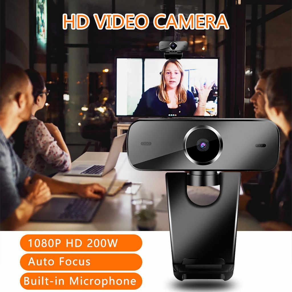 2 мегапикселя Full HD 1080P с автофокусом USB2.0 веб-камера Встроенный микрофон камера для ПК ноутбука ПК Цифровая камера Веб-камеры Z0513